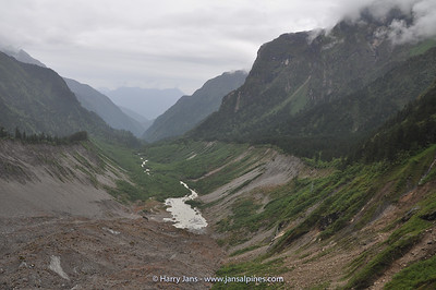 Morene on Hailuogou Glacier