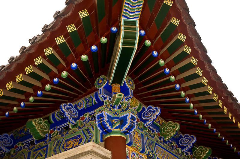 Roof detail, Da Ci'en Temple built in the seventh century to memorialize a virtuous queen, Xian