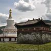 stuppa and temple at Jiagenbaxiang