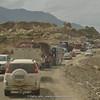 traffic jam near Luding