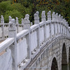 marble bridge at Black Dragon Pool park in Lijijang