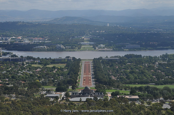view over Canberra