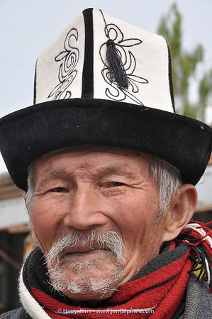 man with Kalpak, traditional hat