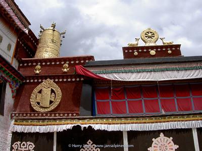 The Jokhang monastery, sacred symbols