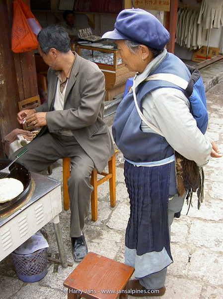 Lijiang, the old city , Naxi woman