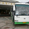 bus in front of Grand Lijiang Hotel