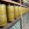 prayer wheels at Yufeng Monastery (10.000 Camelia Temple)