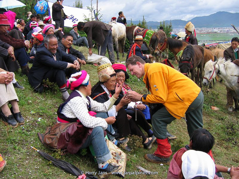 Harry at Horse Racing Festival (Zhongdian)