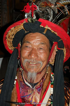 Dongba priest at Naxi Music Performance