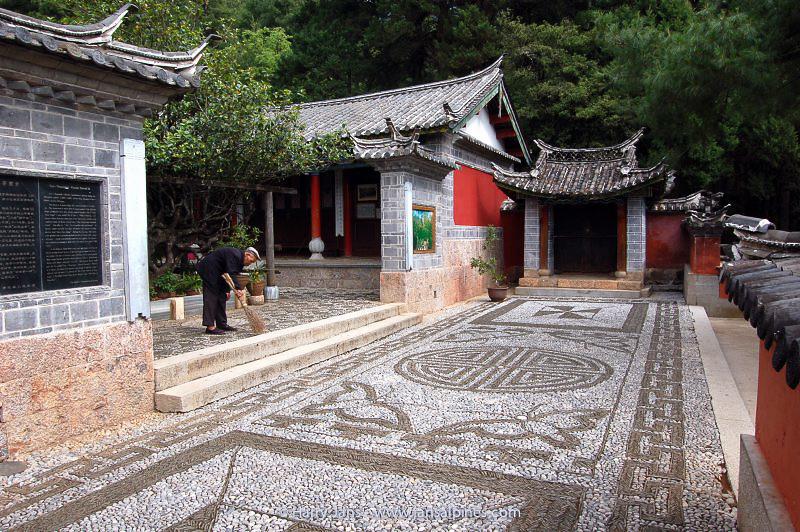 wonderful stone pavement at Yufeng Monastery