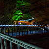 Lighted underground bridge