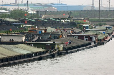 Barges filled with coal