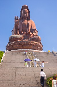 The 62 m. tall statue of Guan Yin at Mount Xiqiao of Nanhai district, Guangzhou, China