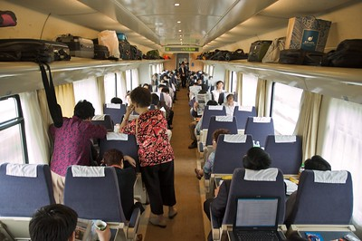 The train from Shanghai to Nanjing