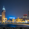 Asia - China - Chinese Eastern Coast - Shanghai - 上海 - Shànghǎi - Global financial center - City Panorama with Skyscraper & High Rise Buildings along Huangpu River - Night