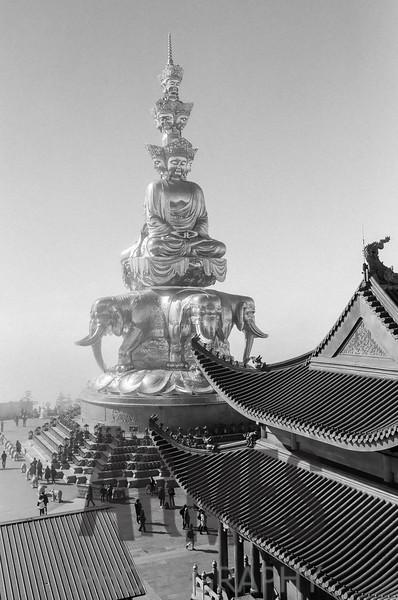 Statue of Samantabhadra at the summit of Mount Emei
