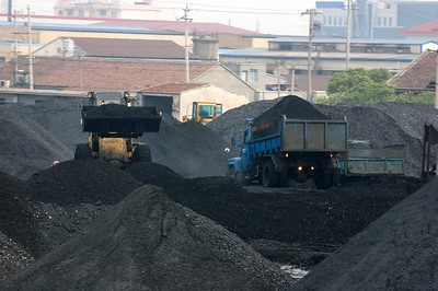 China produces most of its electricity by burning coal.