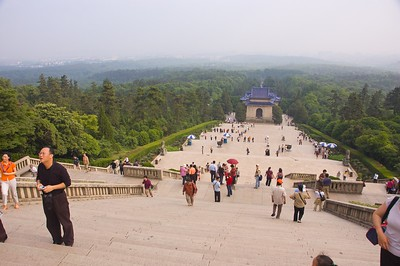 The top of the steps