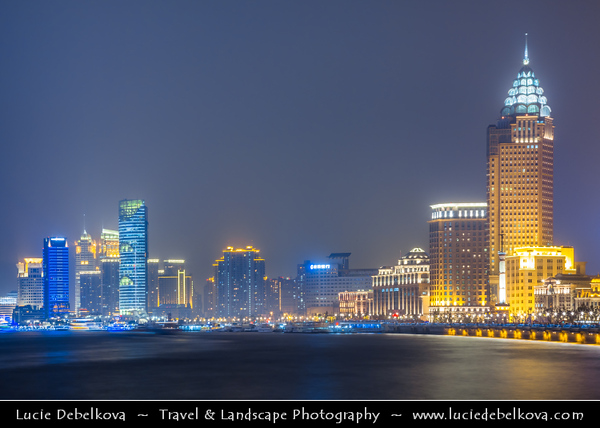 Asia - China - Chinese Eastern Coast - Shanghai - 上海 - Shànghǎi - Global financial center - City Panorama with Skyscraper & High Rise Buildings along Huangpu River