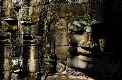 Ancient stone sculptures in Angkor Thom. Siem Reap, Cambodia.
