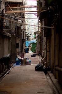 Urban alleyway.