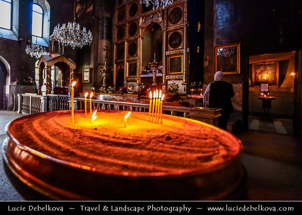 Georgia - Tbilisi - თბილისი - Capital City - Interior of Eastern Orthodox Church - Distinct, recognizable style among church architectures