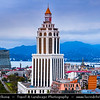 Georgia - Batumi - ბათუმი - Seaside city on the Black Sea coast & capital of Adjara (autonomous republic in southwest Georgia) - City View with Sheraton Hotel as a new city landmark & Shota Rustaveli State University Building