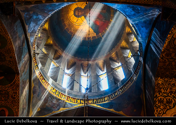 Georgia - Tbilisi - თბილისი - Capital - Tbilisi Sioni Cathedral - Sun rays shining through beautiful copula