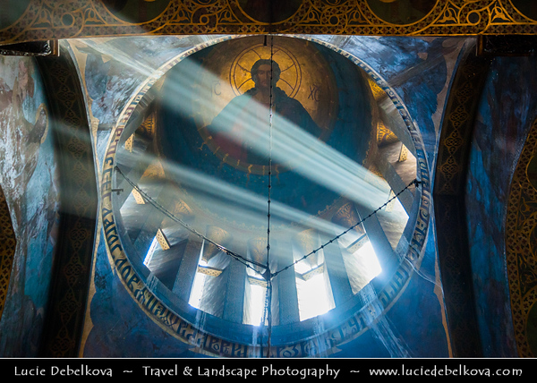 Georgia - Tbilisi - თბილისი - Capital - Tbilisi Sioni Cathedral - Sun rays shining through beautiful copula