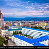 Georgia - Batumi - ბათუმი - Seaside city on the Black Sea coast & capital of Adjara (autonomous republic in southwest Georgia) - City View with Sheraton Hotel as a new city landmark & Shota Rustaveli State University Building