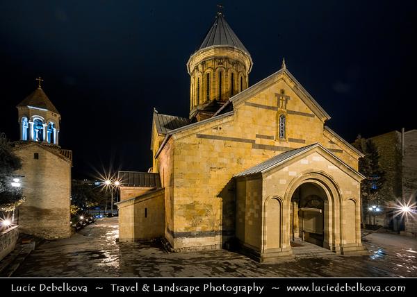 Georgia - Tbilisi - თბილისი - Capital City Skyline - Night View