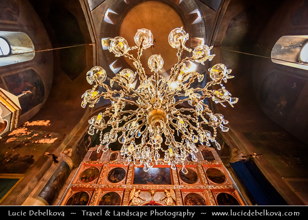Georgia - Tbilisi - თბილისი - Capital City - Interior of Eastern Orthodox Church - Distinct, recognizable style among church architectures