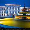Georgia - Batumi - ბათუმი - Seaside city on the Black Sea coast & capital of Adjara (autonomous republic in southwest Georgia) -  Shota Rustaveli State University  Fountain at Dusk - Twilight - Blue Hour