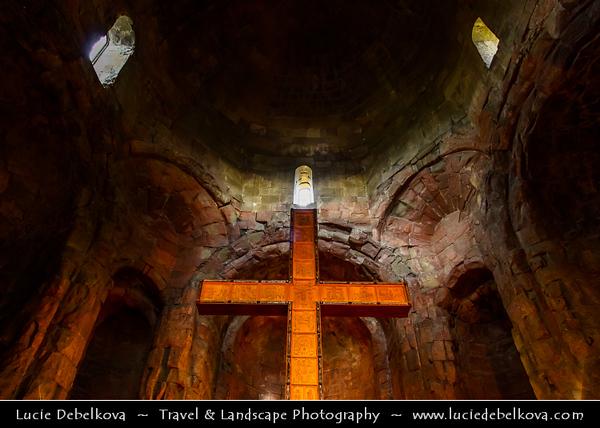 Georgia - Mtskheta - მცხეთა - One of the oldest cities of the country - UNESCO World Heritage Site - Jvari - Jvari Monastery - ჯვარი, ჯვრის მონასტერი - Georgian Orthodox monastery from the 6th century