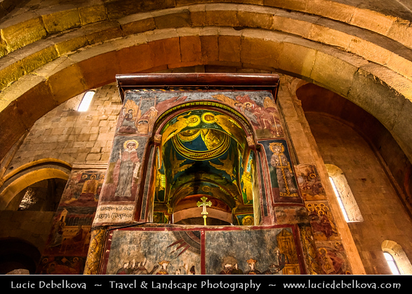 Georgia - Mtskheta - მცხეთა - One of the oldest cities of the country - UNESCO World Heritage Site - Svetitskhoveli Cathedral - სვეტიცხოვლის საკათედრო ტაძარი - Svet'icxovlis sak'atedro t'adzari - The Living Pillar Cathedral - Georgian Orthodox Cathedral