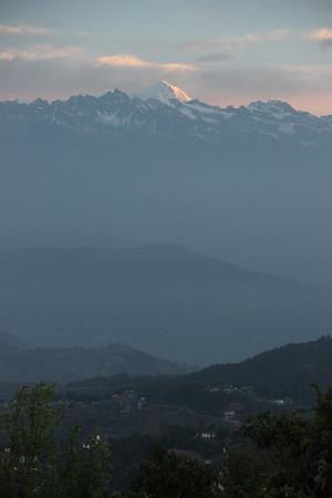 Himalayan view from Nagarkot