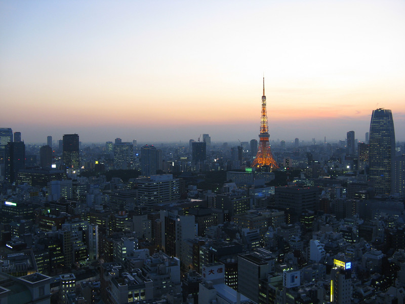 A view of Tokyo from our hotel room.