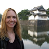 Sheri in front of the imperial palace