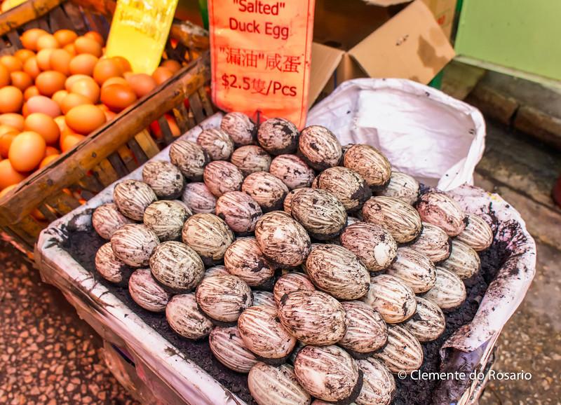 Salted Duck Eggs in Graham Street Market, Hong Kong<br /> File Ref:2012-06-25-Hong Kong 081 1748 1749