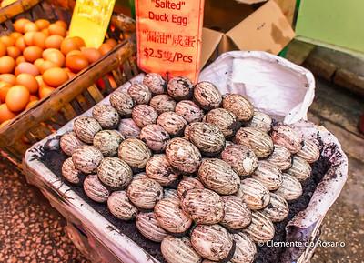 Salted Duck Eggs in Graham Street Market, Hong Kong File Ref:2012-06-25-Hong Kong 081 1748 1749