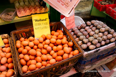 Eggs on sale in the Graham Street Market, Hong Kong Island File Ref:2012-06-25-Hong Kong 080