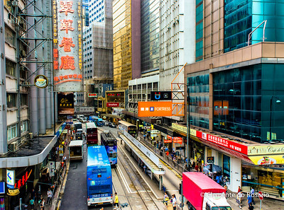 Busy street scene on Hong Kong Island File Ref:2012-06-25-Hong Kong 059 1731