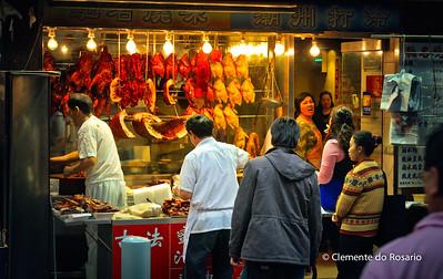 Wan Chai Seafood and Meat Market. HongKong File Ref:2012-06-25-Hong Kong 006 1750 1751