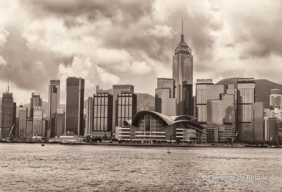 Hong Kong Island skyline from Kowloon File Ref:2012-06-25-Hong Kong 119 1724
