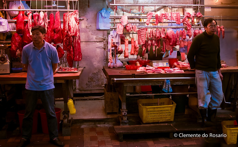 Wan Chai Seafood and Meat Market. HongKong<br /> File Ref:2012-06-25-Hong Kong 14 496