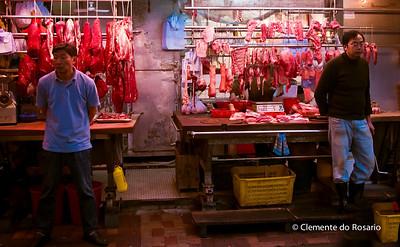 Wan Chai Seafood and Meat Market. HongKong File Ref:2012-06-25-Hong Kong 14 496