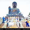 Asia - Hong Kong - 香港 - Special administrative regions (SARs) of the People's Republic of China - Lantau Island - Po Lin  Buddhist Monastery located on Ngong Ping Plateau