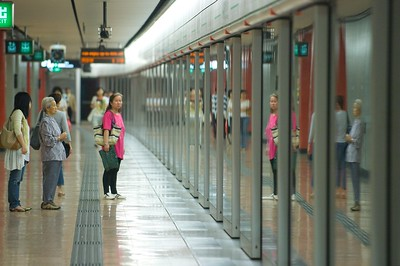 The subway in Hong Kong is clean and efficient.