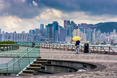 A view of the Hong Kong Island skyline from Museum of Art in Kowloon File Ref:2012-06-25-Hong Kong 114 1719