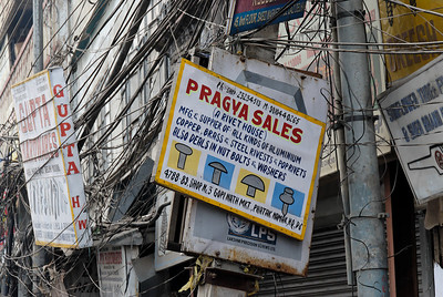 Signs in the Chandi Chowk market